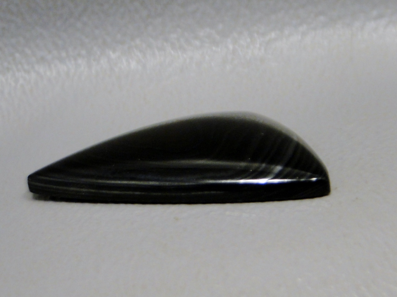 Crown of Silver Psilomelane  Black Stone Cabochon #9