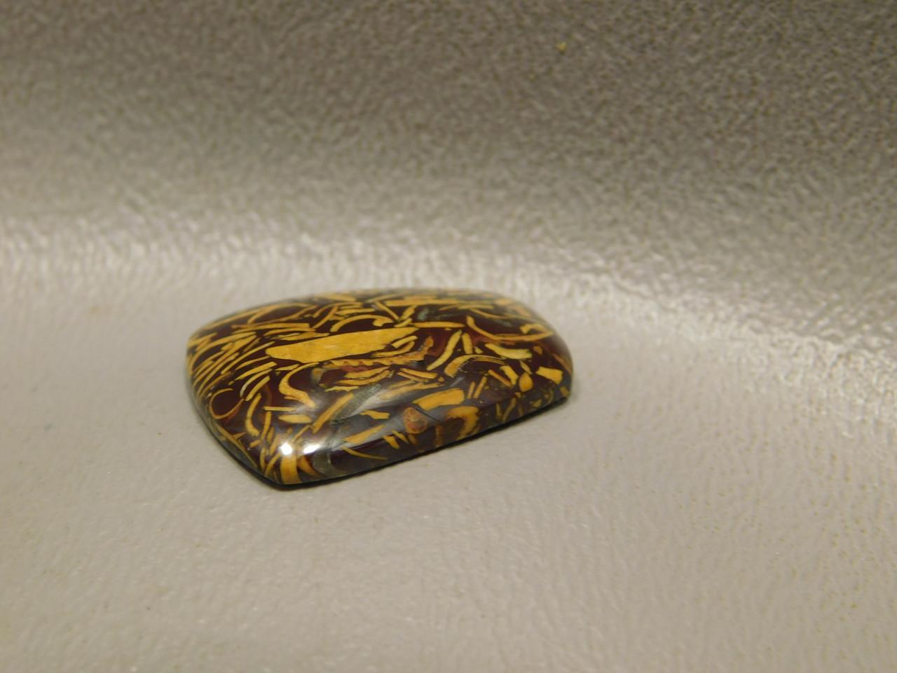 Cabochon Coquina Jasper Cobra Elephant Skin Shield Stone #21