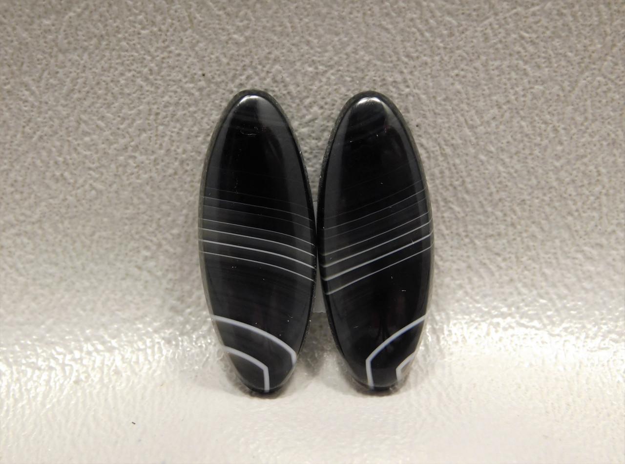 Stone Cabochons Black and White Tuxedo Agate #12