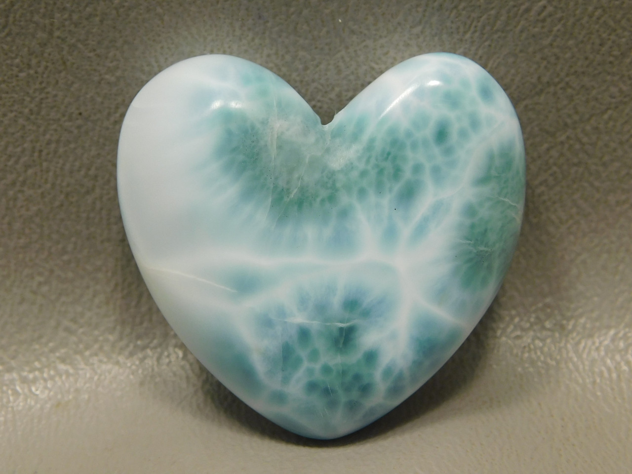 Heart Cabochon Blue Larimar Stone Jewelry Making Supplies #20