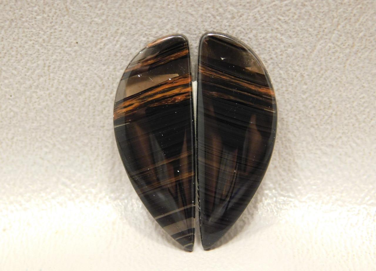 Cabochons Mahogany Obsidian Matched Pairs Loose Stones #13