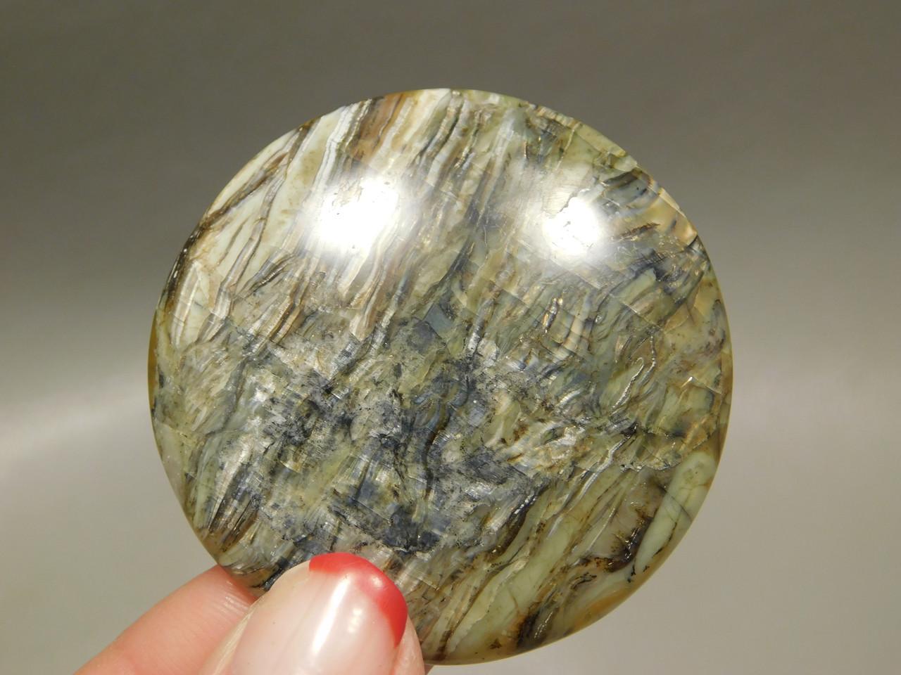 Arizona Tigereye Chatoyant Gemstone Cabochon 41.5 mm Round #6