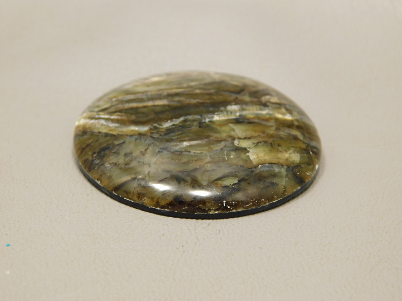 Arizona Tigereye Chatoyant Stone Cabochon 43 mm Round #10