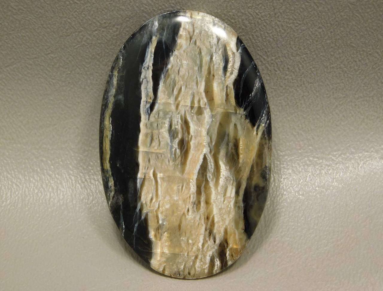 Stone Cabochon  Arizona Pietersite Black Gold Chatoyant Large Oval #4