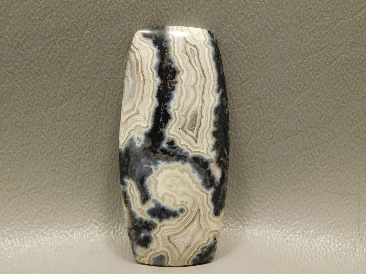 Cabochon Crazy Lace Agate Barrel Shaped Stone #2