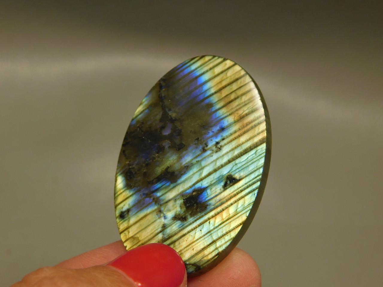 Iridescent Labradorite Jewelry Making Supplies Loose Cabochon #13