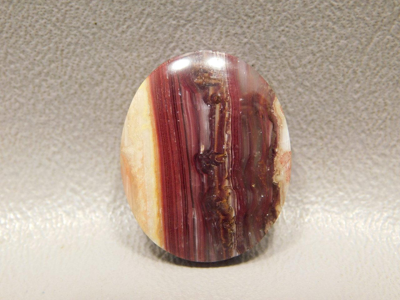Candy Opal Red Yellow Translucent Banded Cabochon Stone #17