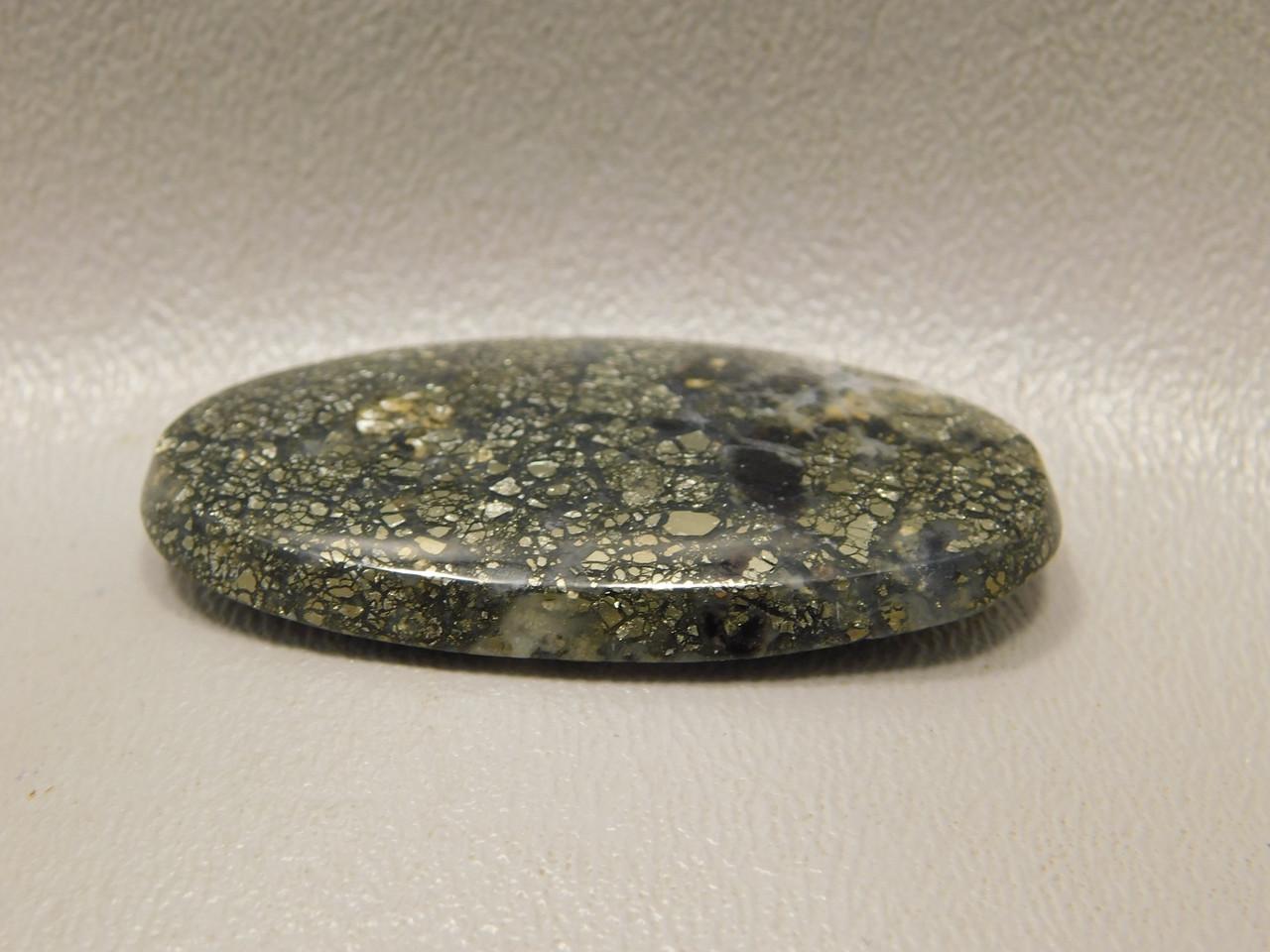 Stone Cabochon Pyrite Agate Designer Semi Precious Gemstone #16