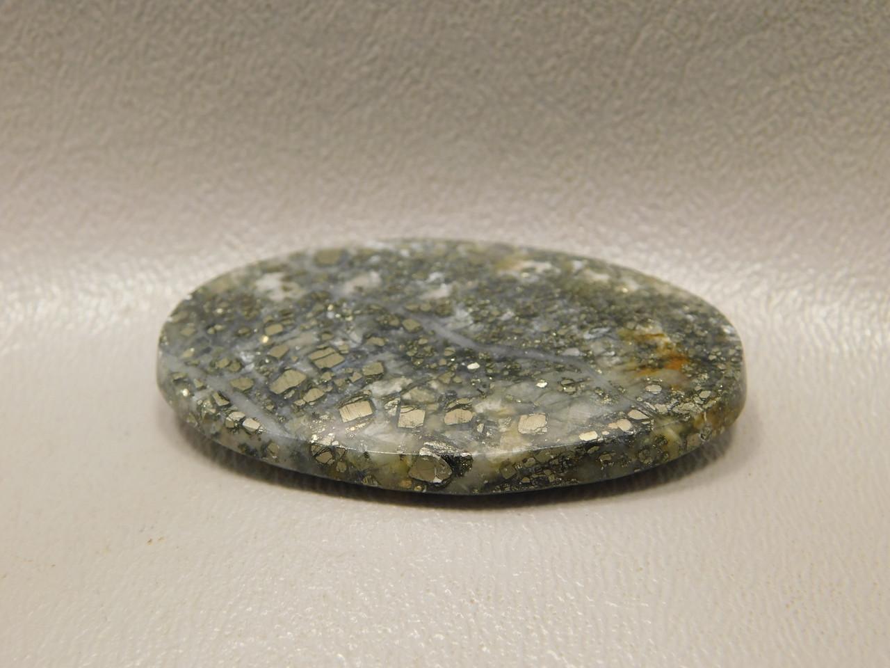 Stone Cabochon Gold Pyrite Agate Semi Precious Gemstone #20