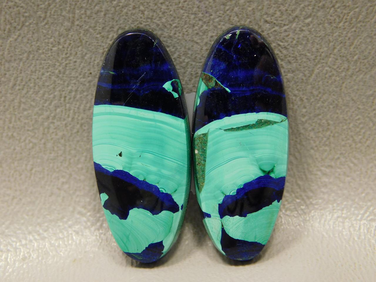Designer Cabochons Azurite-Malachite Matched Pairs High Grade #12