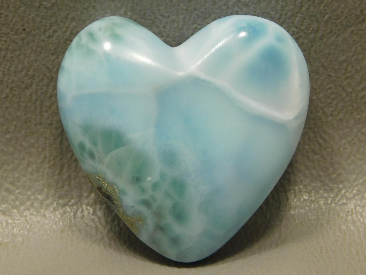 Heart Cabochon Sea Blue Stone Larimar #2