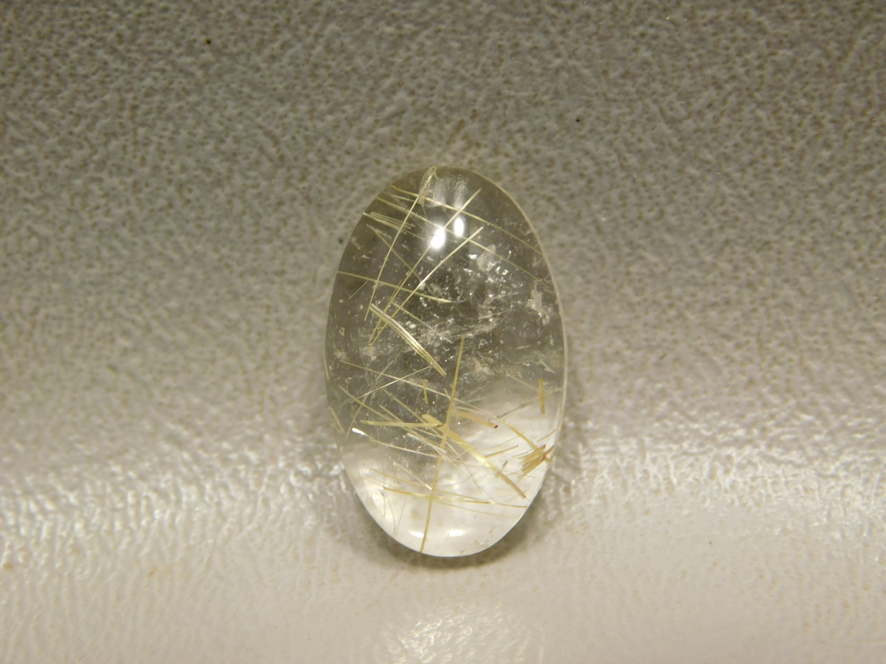 Rutilated Quartz Small Oval Crystal Semi Precious Gemstone #6