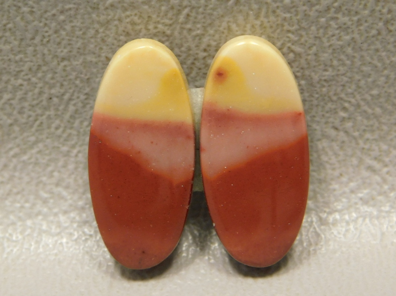 Mookaite Cabochons Mook Red and Yellow Jasper Matched Pair #4
