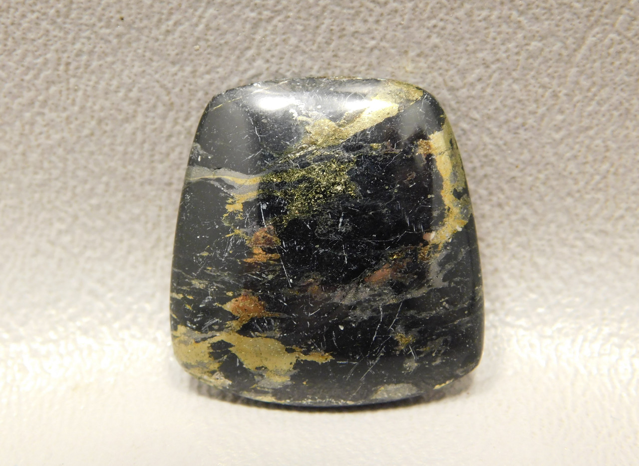 Freeform Black Apache Gold Stone Cabochon Arizona #12