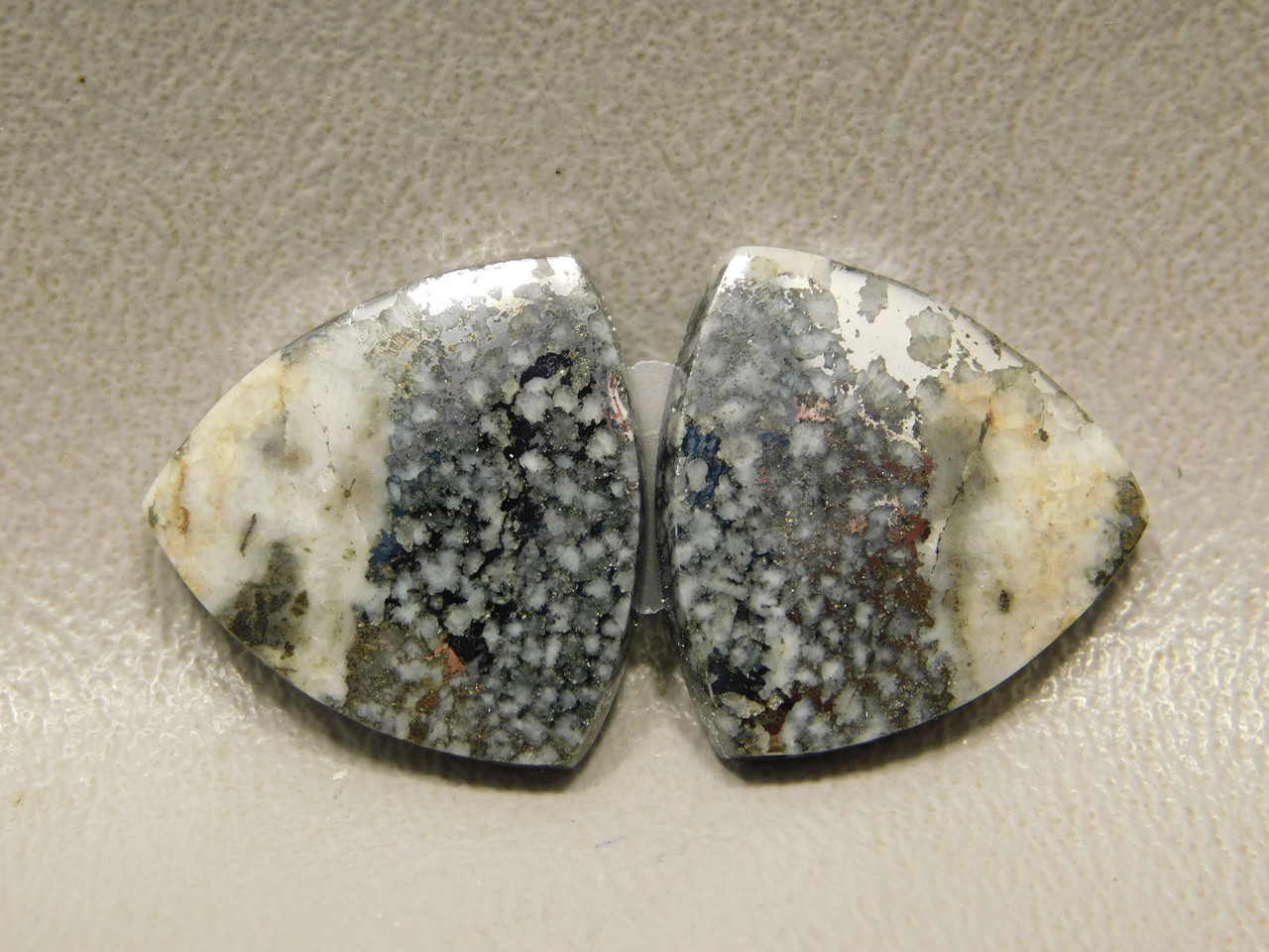 Mohawkite Matched Pair Cabochons #15