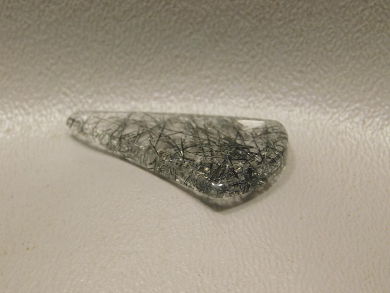 Tourmalined Quartz Cabochon Semiprecious Gemstone #3