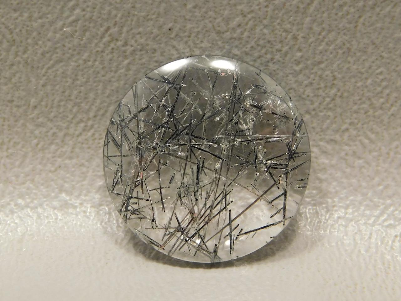 20 mm Round Tourmaline Clear Quartz Stone Cabochon #11