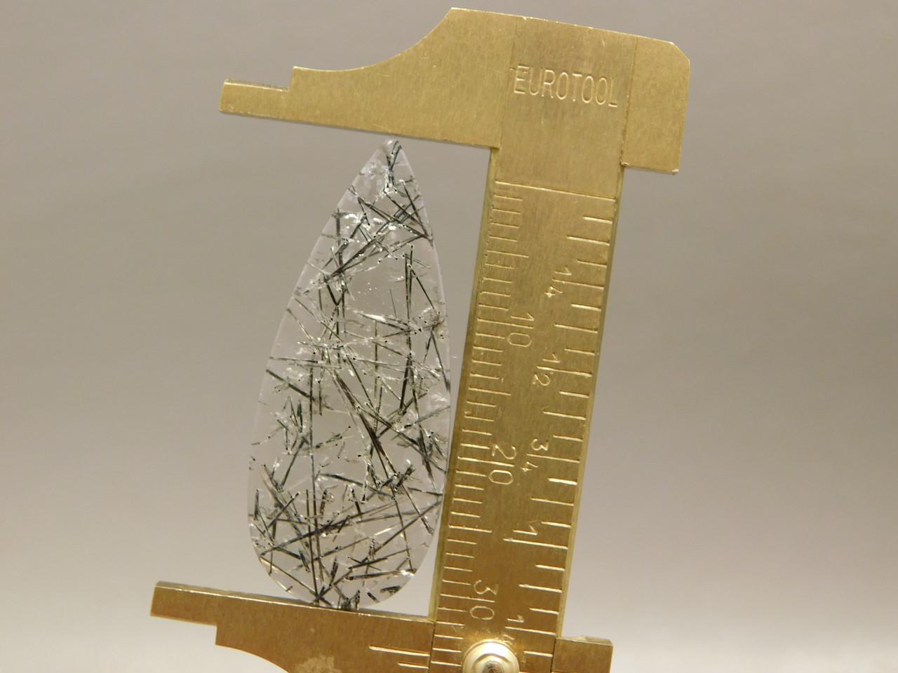 Tourmaline Quartz Cabochon Pear Shaped Stone Crystal #13