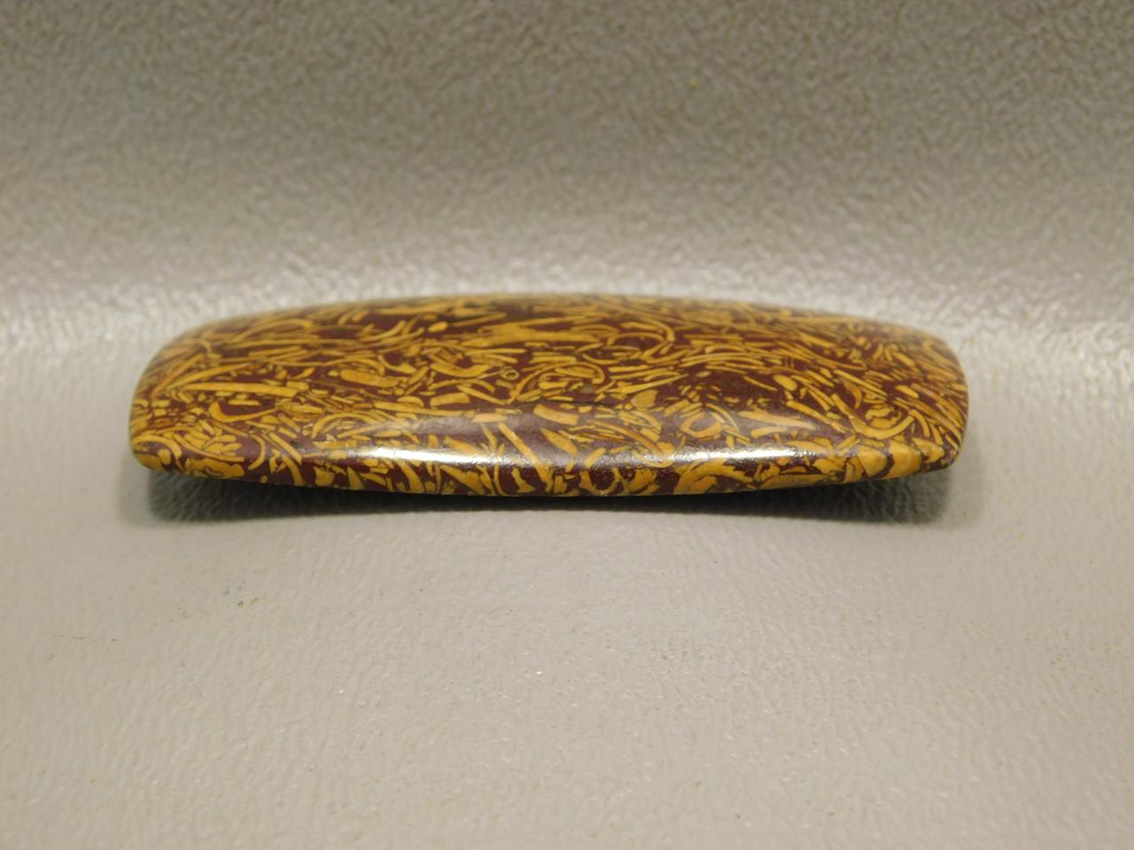 Cabochon Coquina Jasper Cobra Elephant Skin Script Stone  #16