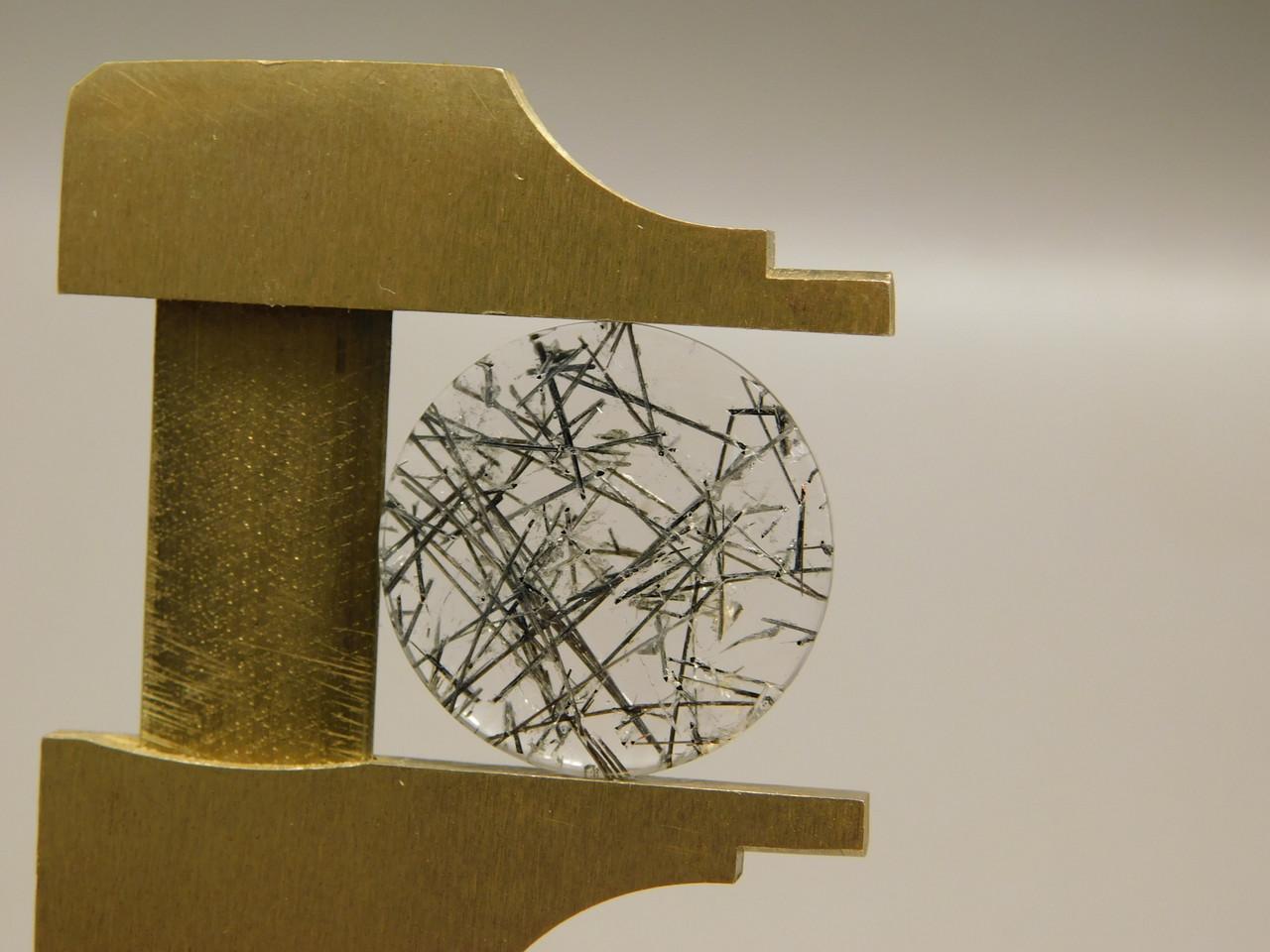 18 mm Round Tourmaline Quartz Crystal Stone Cabochon #22