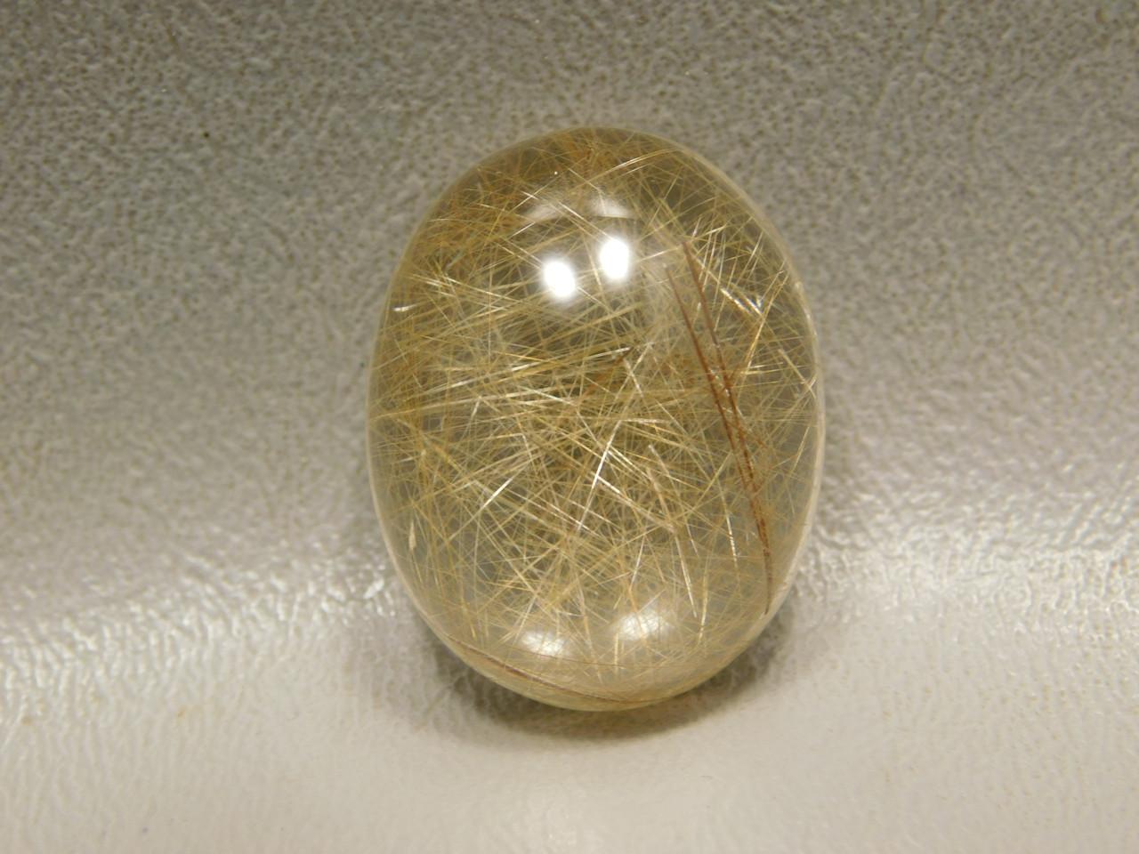 Rutilated Quartz Clear Crystal Gemstone Cabochon #Q3