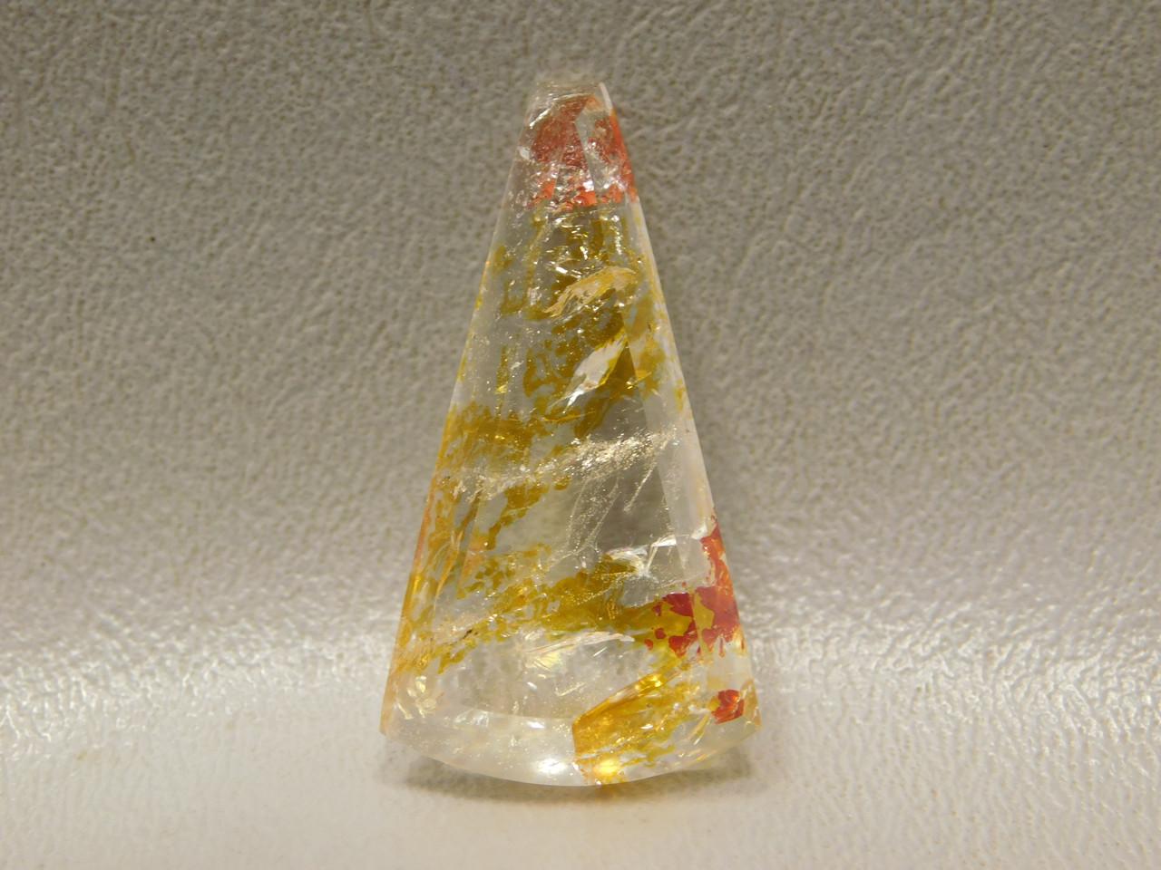 Hematoid Quartz with Inclusions Crystal Gemstone Cabochon #Q9