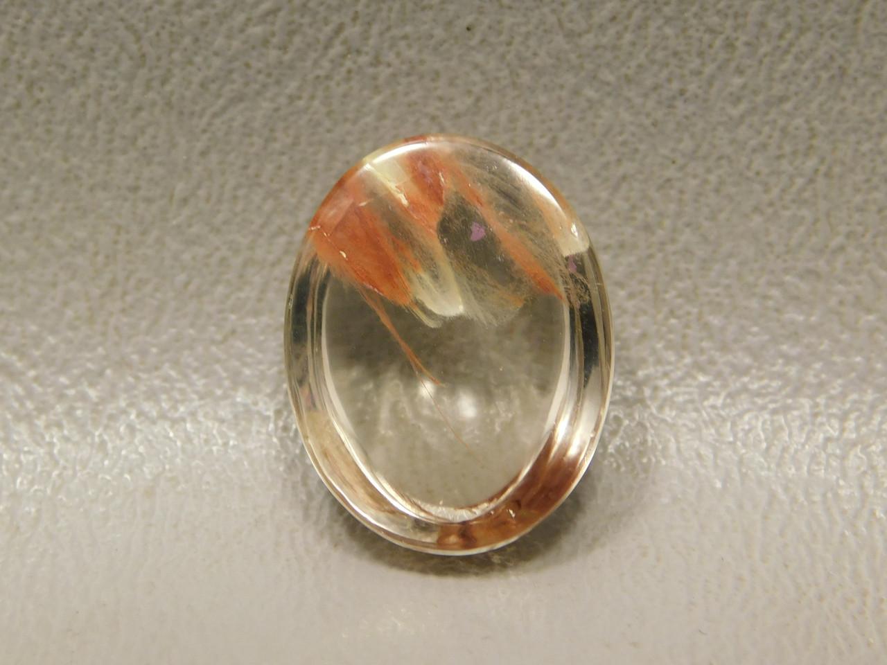 Included Quartz Cabochon Crystal Gemstone #Q12