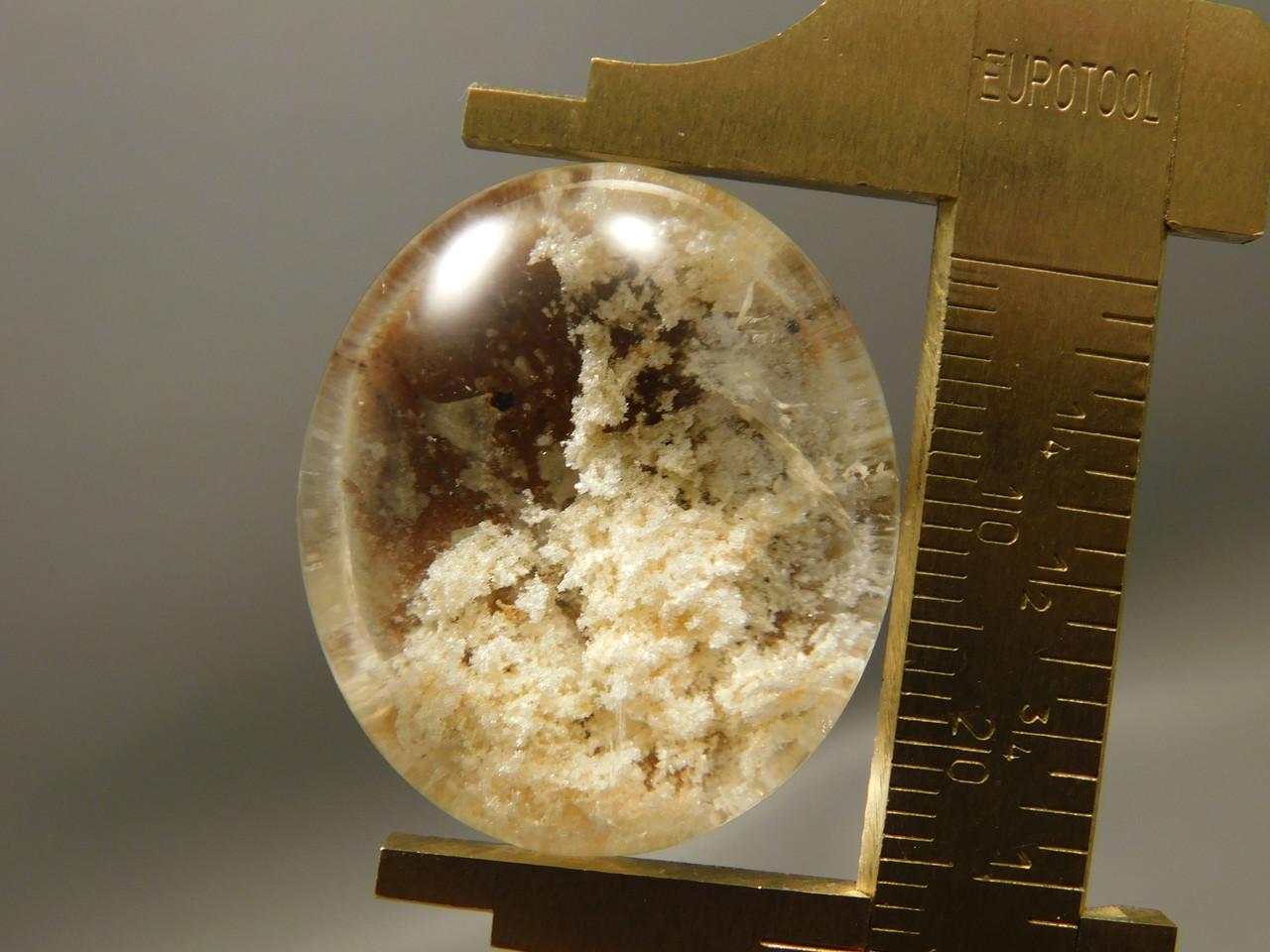 Lodolite or Garden Quartz Cabochon Clear Crystal Gemstone #Q33