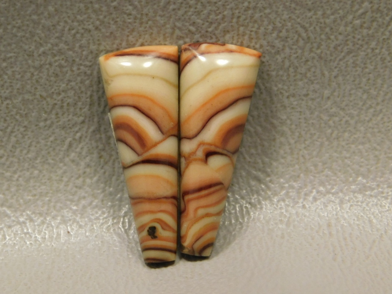 Wave Dolomite Cabochon Matched Pair Semi Precious Stones #6