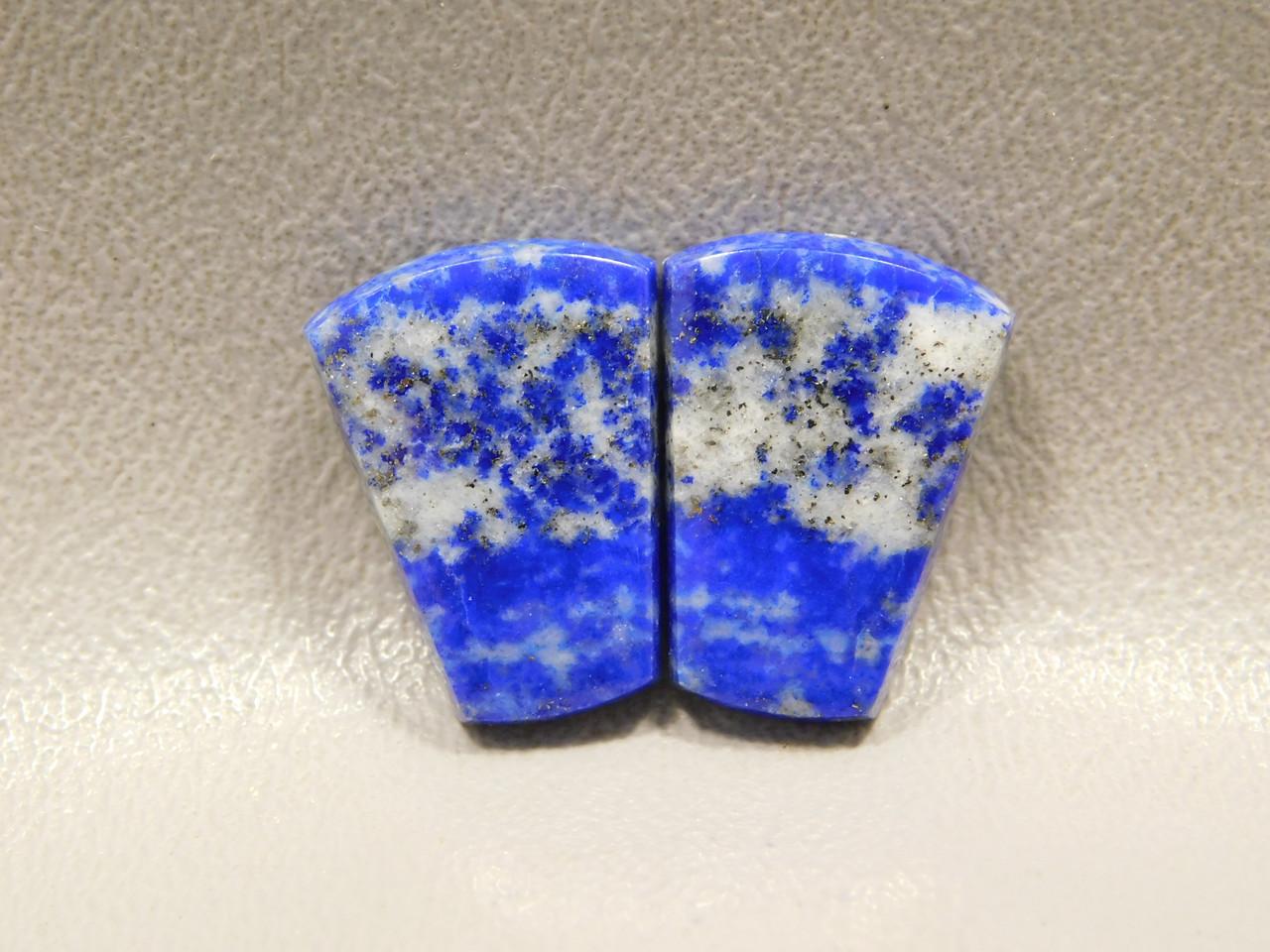 Lapis Lazuli Semi Precious Stone Matched Pair Cabochons #13