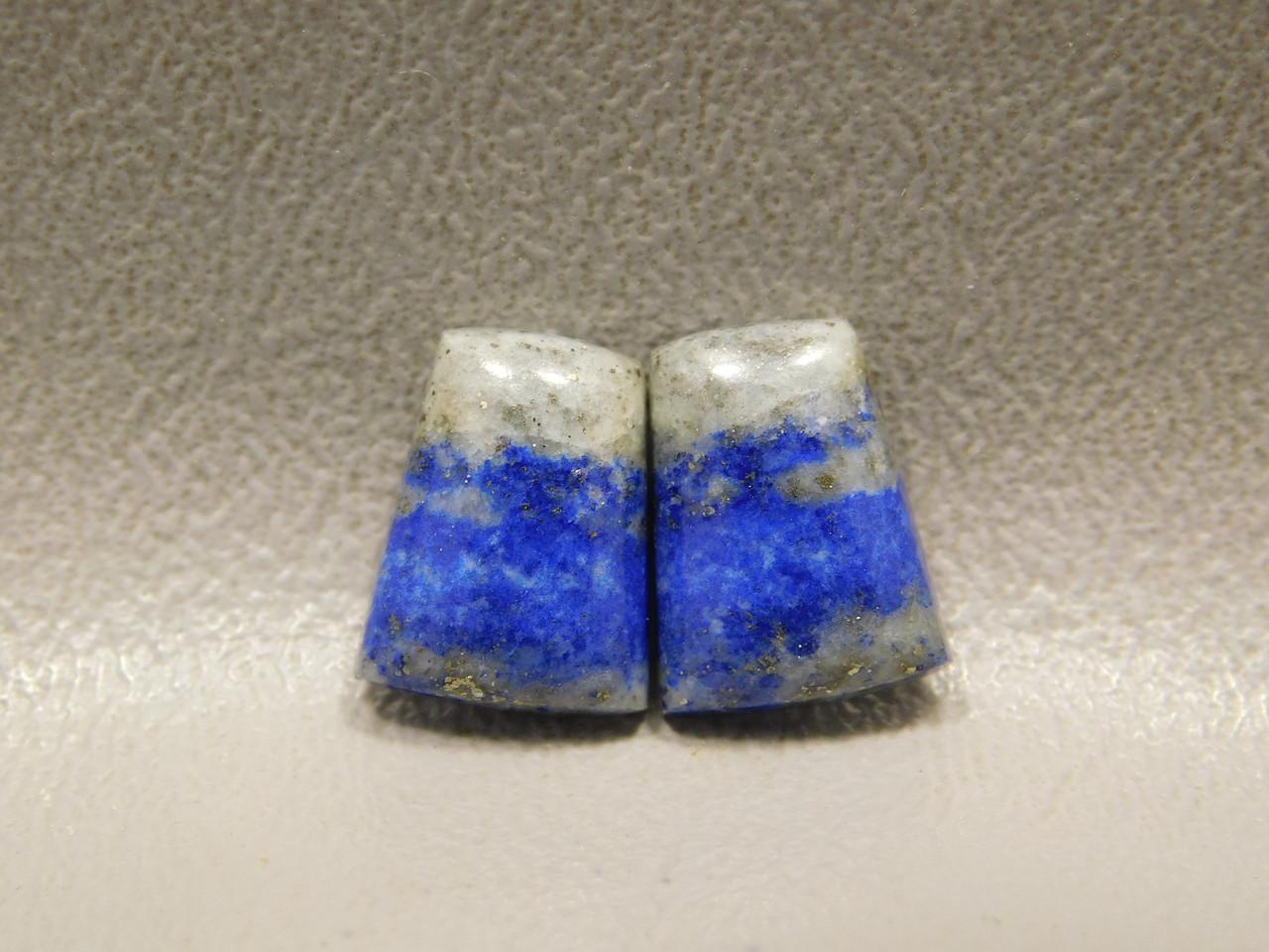 Blue Stone Lapis Cabochons Small Matched Pairs Trapezoids #23
