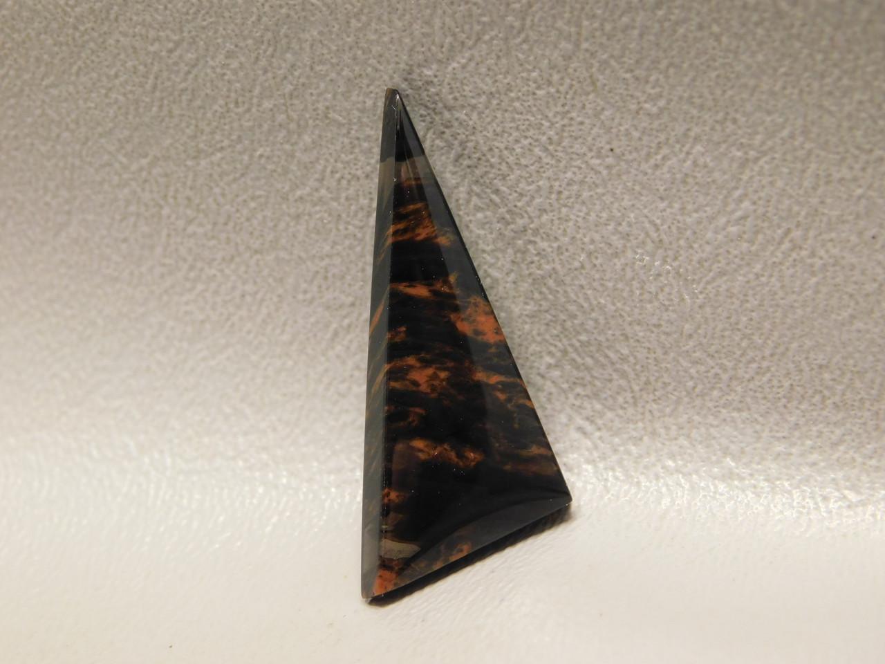Mahogany Obsidian Cabochon Triangle Black and Red Gemstone #1