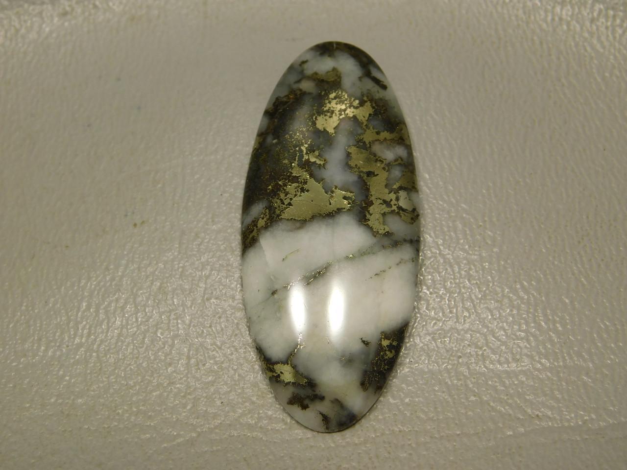 Cabochons Mohawkite Stone Metallic Gold in White Gemstone  #19