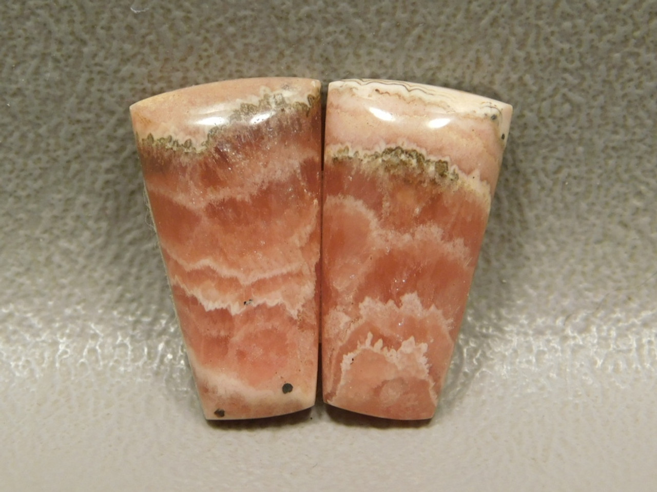 Cabochons Rhodochrosite Matched Pairs Pink Gemstone #20