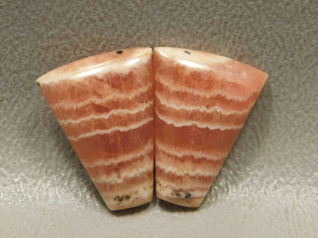 Cabochon Stones Rhodochrosite Matched Pairs  for Earrings #23