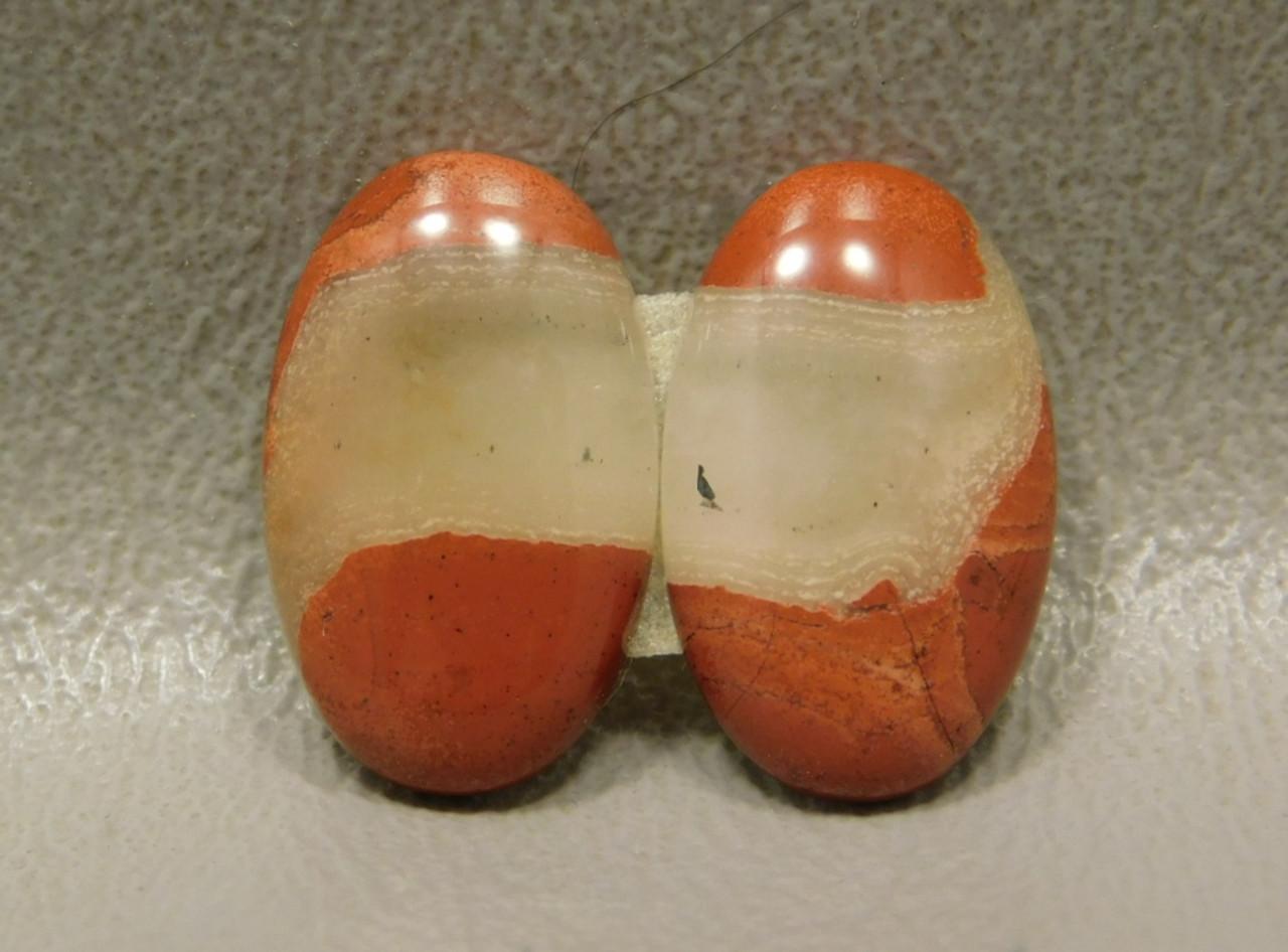 Red Jasper Matched Pairs Semiprecious Stone Cabochons #5