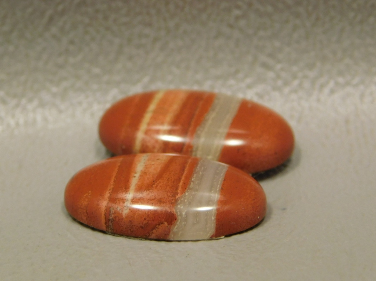 Orange Jasper Matched Pairs Jewelry Making Supplies Cabochons #14