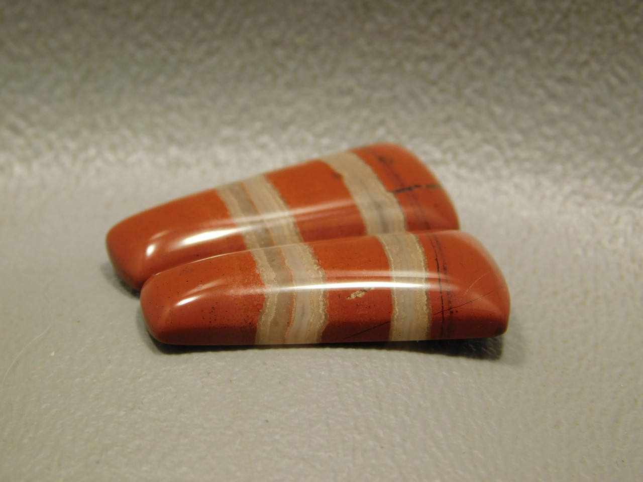 Red Jasper Matched Pairs Freeform Stone Cabochons #15
