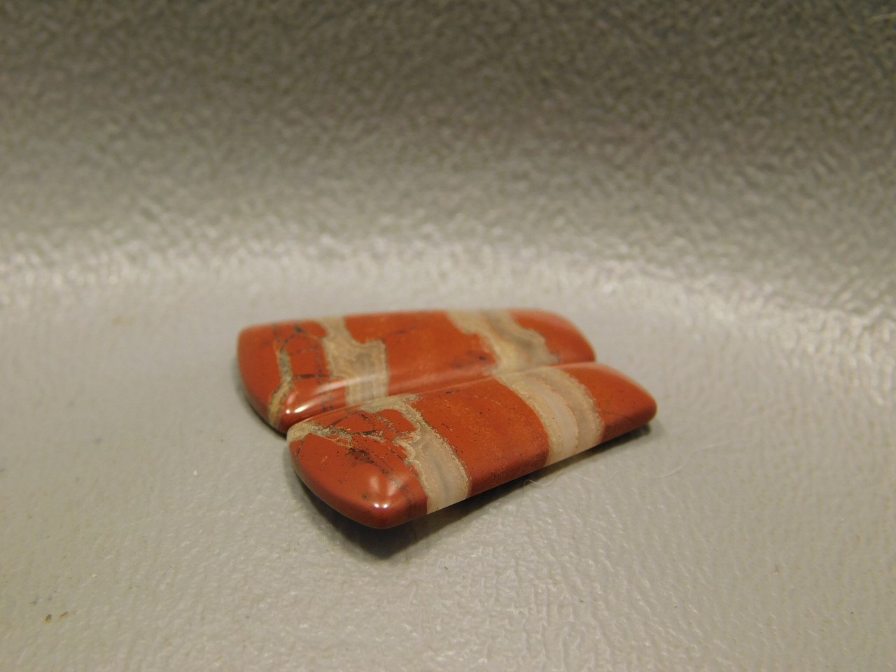 Red Jasper Matched Pairs Pretty Stones Cabochons #17