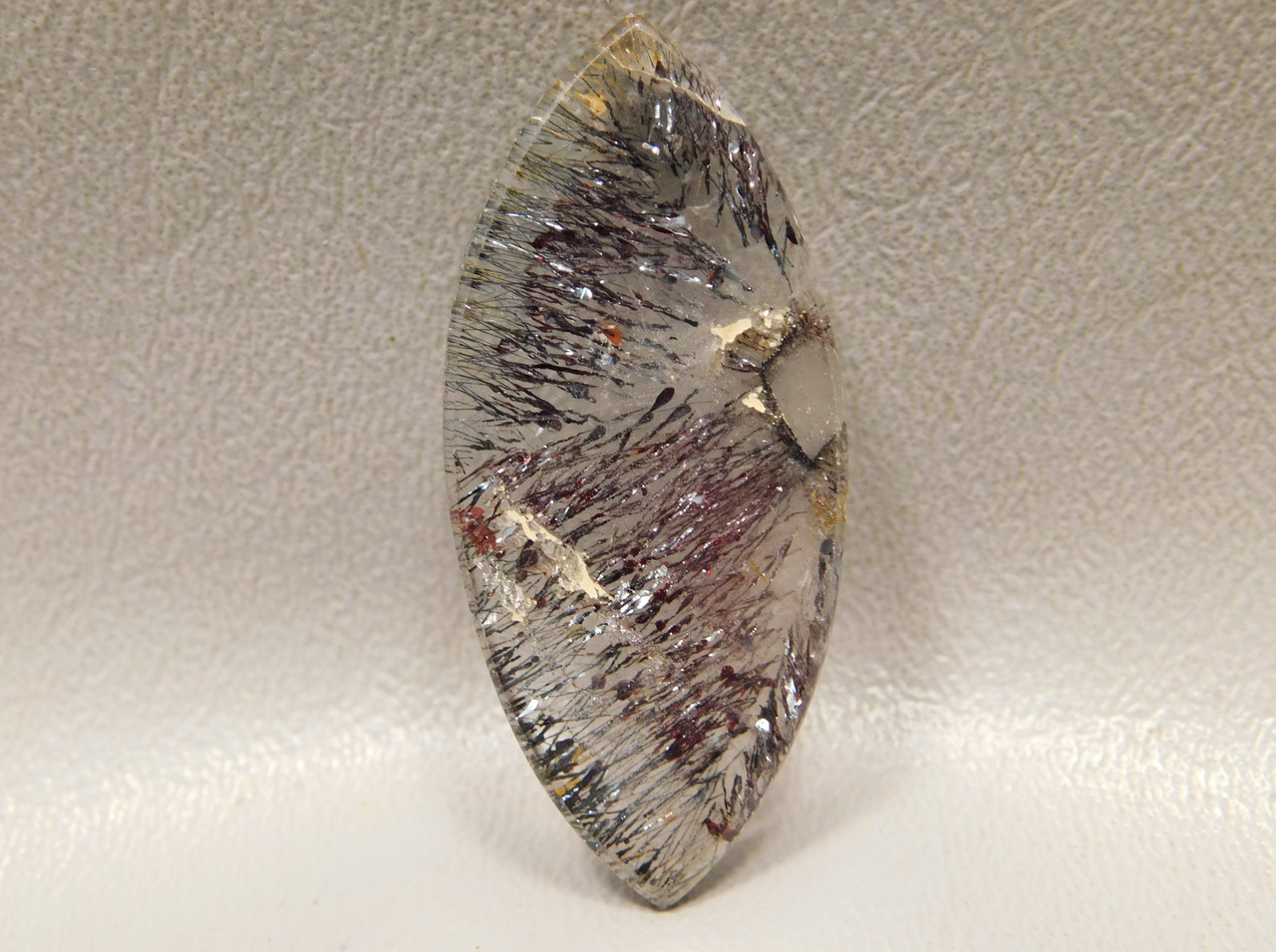 Cacoxenite Amethyst Marquis Diamond Shaped Stone Cabochon #28