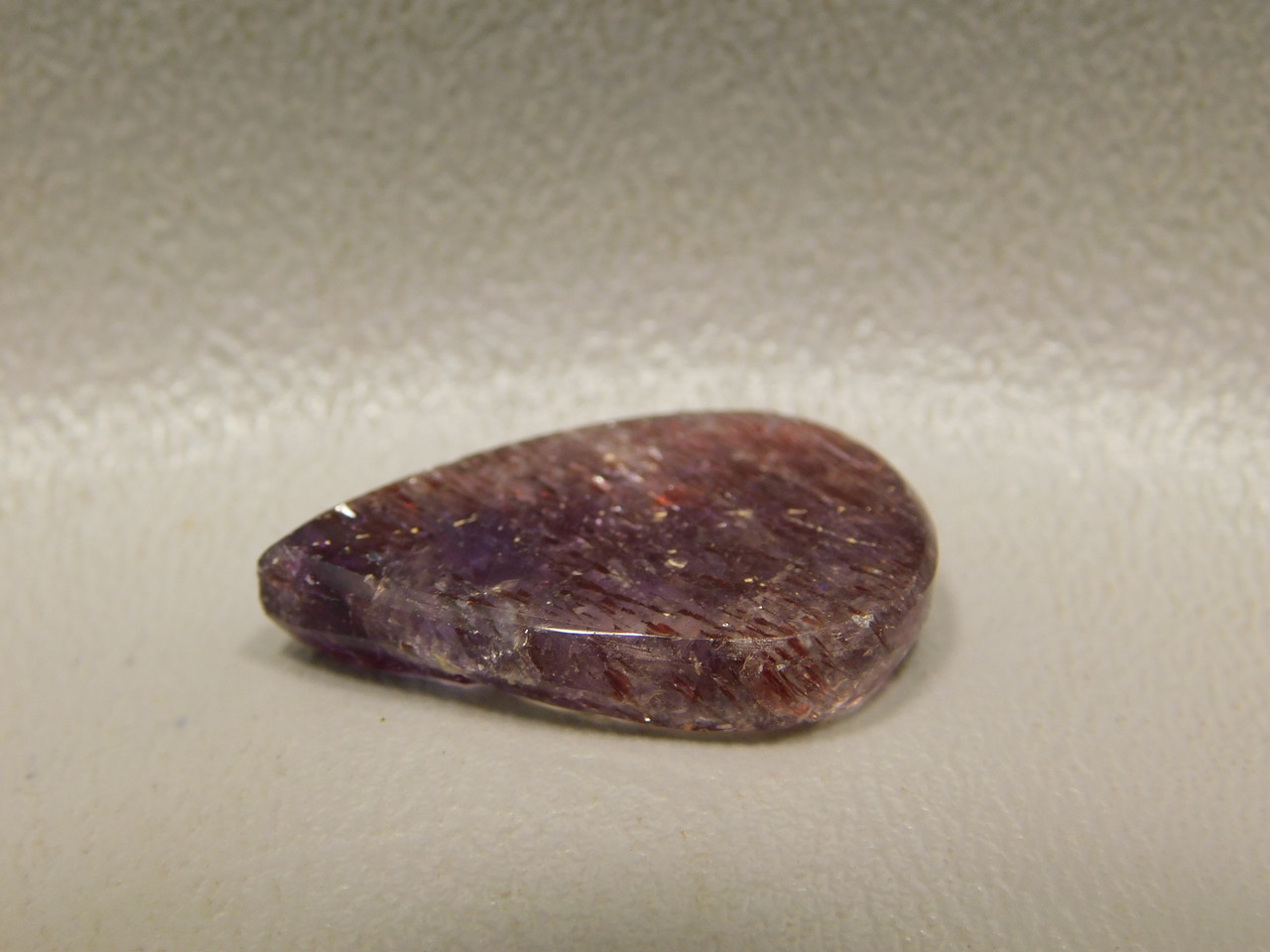 Cacoxenite Amethyst Teardrop Shaped Stone Cabochon #29