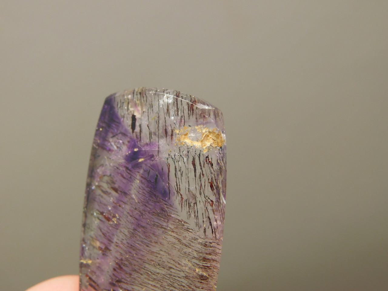 Super Seven Quartz Rectangle Shaped Stone Cabochon #35