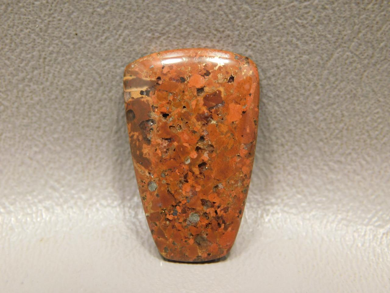 Trapezoid Cabochon Copper Rose Red Semi Precious Stone #15
