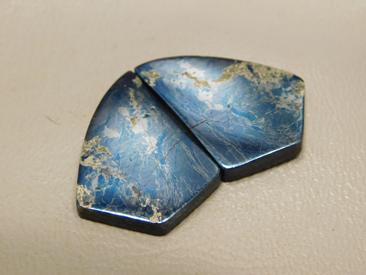 Covellite Semi Precious Stones Cabochons Matched Pairs #21