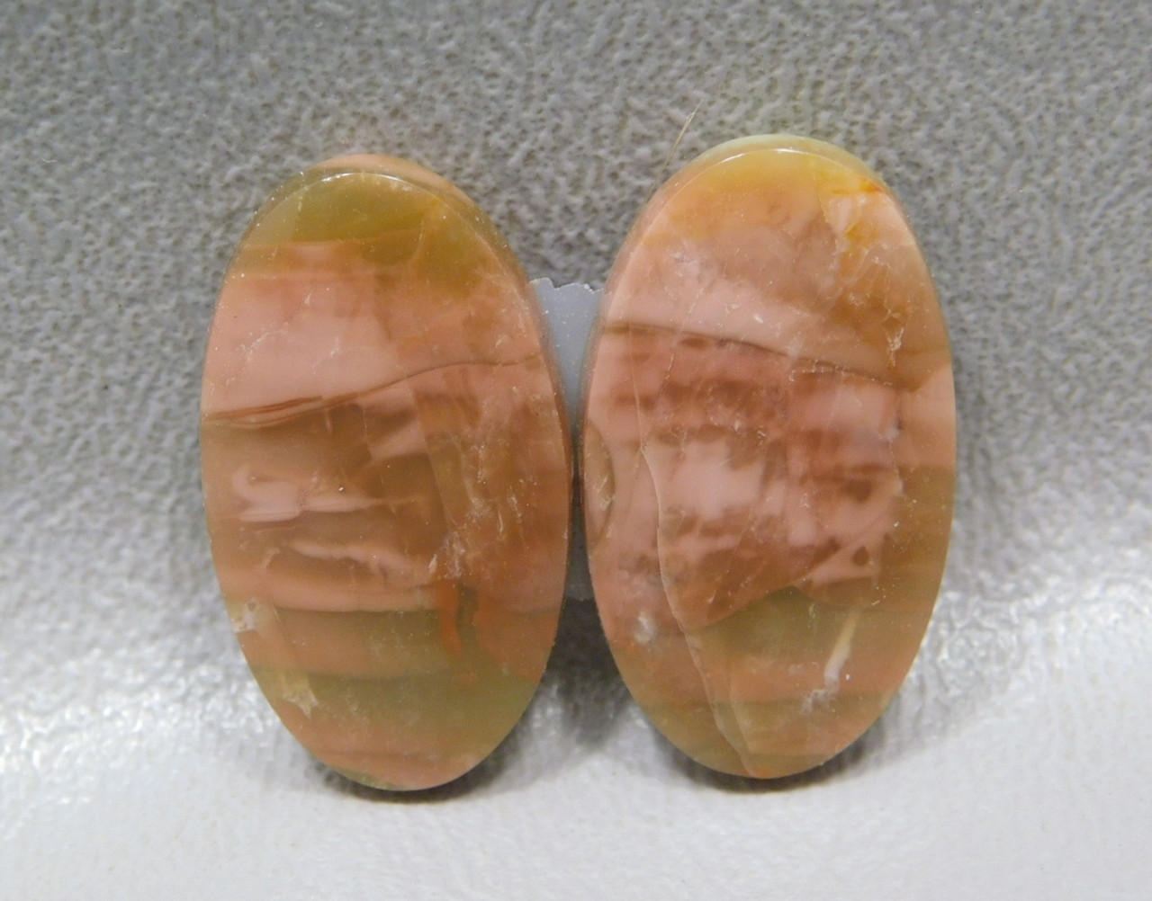 Rose Pink Royal Imperial Jasper Matched Pair Cabochon Stones #22