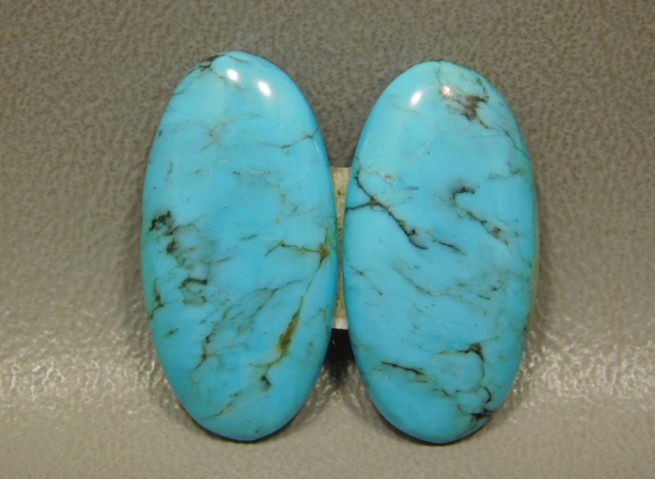 Turquoise Nacozari Matched Pair for Earrings Cabochons #17