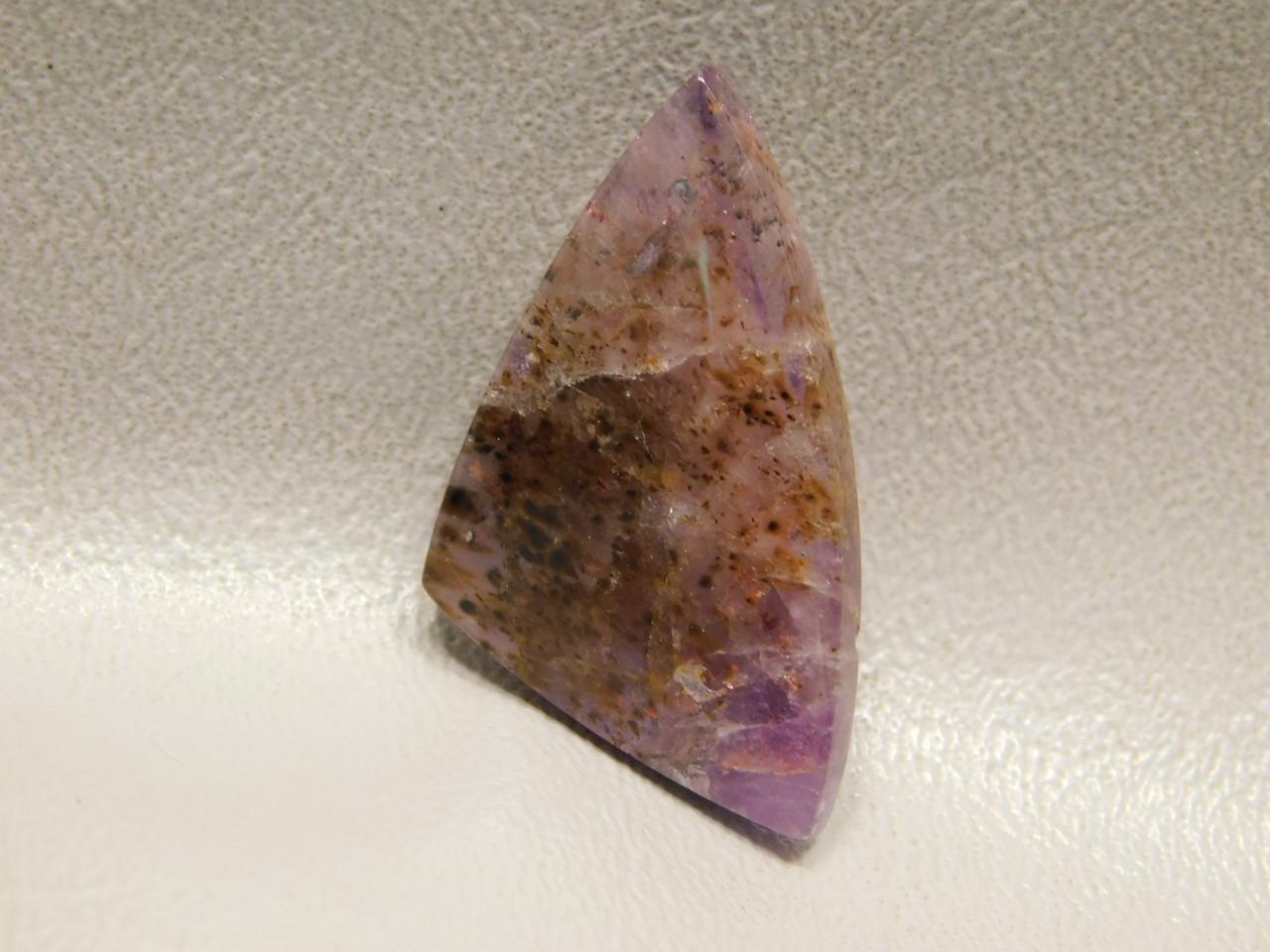 Cacoxenite Amethyst Triangle Super Seven Stone Cabochon #1