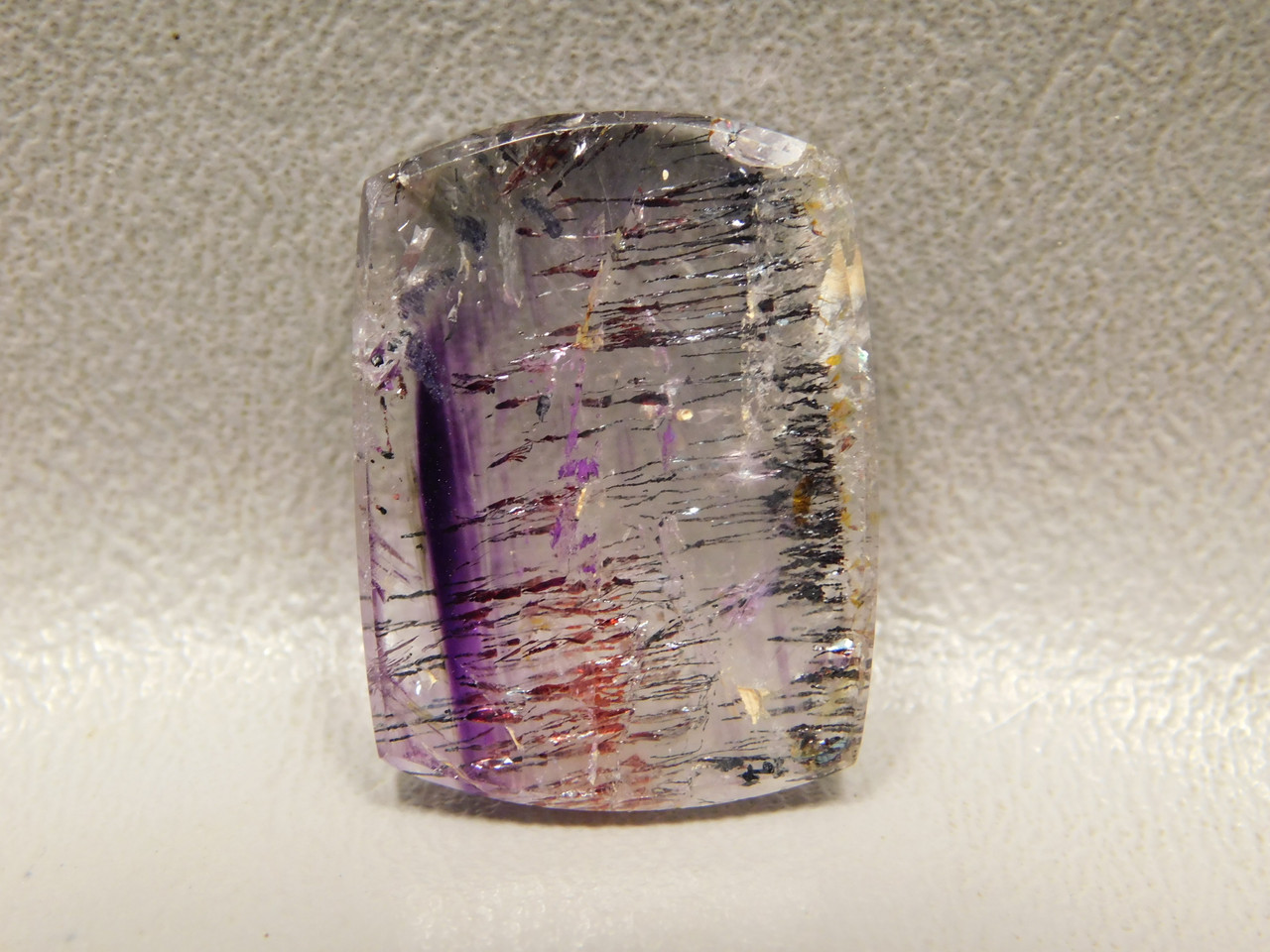 Cabochon Stone Amethyst Cacoxenite Rectangle Shaped #39
