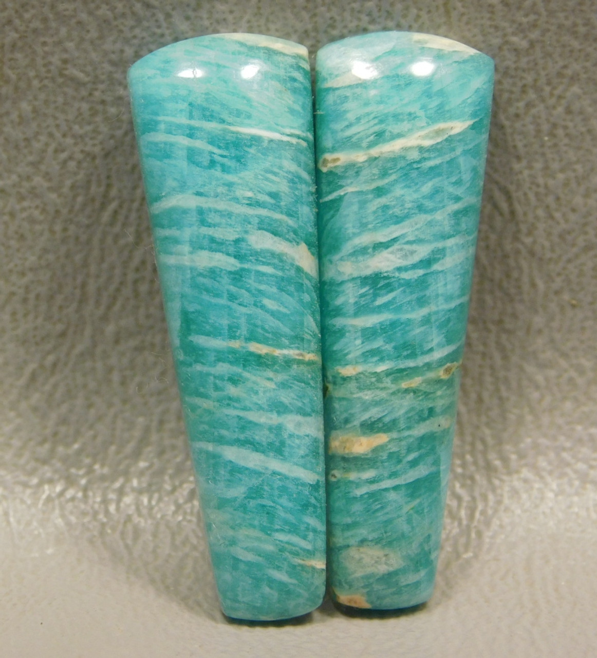 Amazonite Matched Pair Cabochons Green Matched Pair for Earrings #1