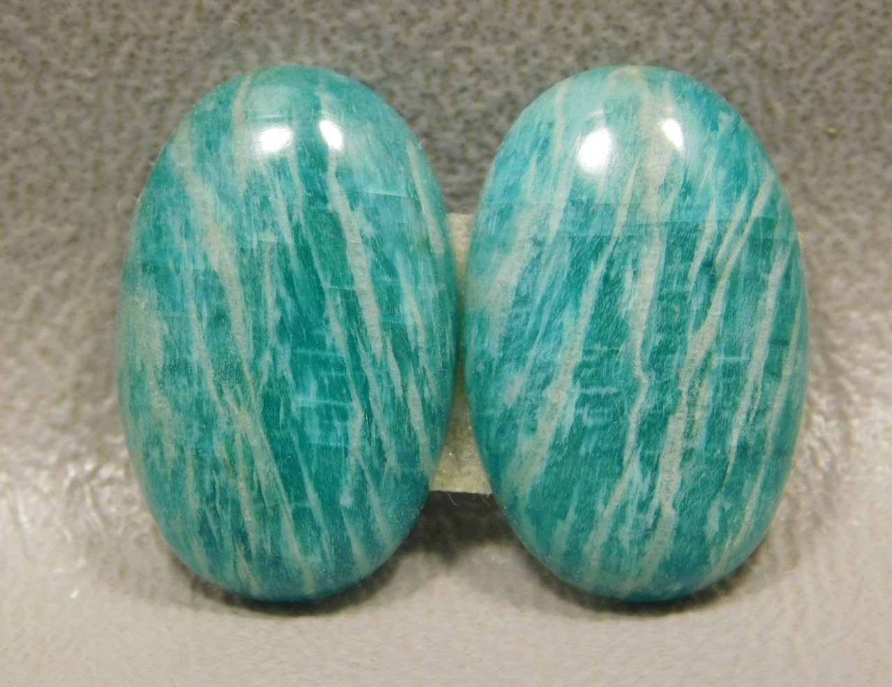 Amazonite Matched Pair Cabochons Matched Pair Ovals #4